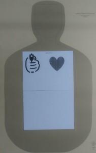 Two sheet target